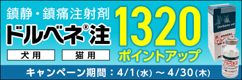 4/30まで!\1320ポイントアップ!/鎮静・鎮痛注射液【ドルベネ注 キャンペーン】