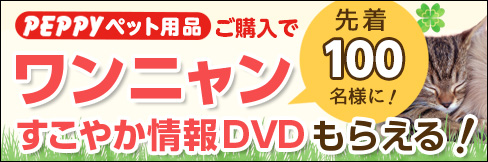 \先着100名様限定!/ペピイペット用品ご購入で【ワンニャンすこやか情報DVD】もらえる!
