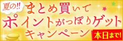 ★上期感謝特別企画★まとめ買いでポイントがっぽりゲットキャンペーン!