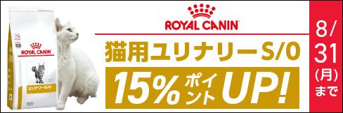 \15%ポイント還元!/ロイヤルカナン猫用【ユリナリーS/Oキャンペーン】