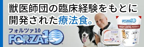 【フォルツァ10特集】イタリア獣医師会認定。獣医師団の臨床経験をもとに開発された療法食