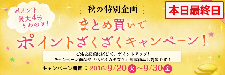 11日間限定★特別企画!まとめ買いポイントざくざくキャンペーン 開始のお知らせ